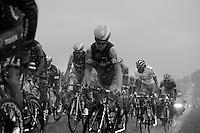 Simon Clarke (AUS/Orica-GreenEDGE) pushing through the thunder storm in the peloton<br /> <br /> 2014 Tour de France<br /> stage 19: Maubourguet - Bergerac (208km)