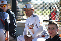 Ethan Holbrook (6) Ukiah, California during the Baseball Factory All-America Pre-Season Rookie Tournament, powered by Under Armour, on January 14, 2018 at Lake Myrtle Sports Complex in Auburndale, Florida.  (Michael Johnson/Four Seam Images)