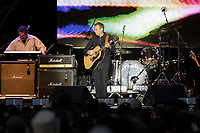 Montreal (Qc) CANADA, July 7, 2007 - <br /> <br /> Zachary Richard and  musicians from Louisiana, USA<br />  onstage at  Live Earth in Montreal (montreal sur Terre) , July 7, 2007.<br /> photo (c)  Images Distribution