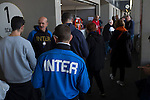 Internazionale 1 Cagliari 2, 16/10/2016. San Siro, Italian Serie A. Ultra fans in the Stadio Giuseppe Meazza, also known as the San Siro, before Internazionale took on Cagliari in an Italian Serie A fixture. The match was overshadowed by a huge controversy that as Inter Ultras declared open warfare on captain Mauro Icardi for a chapter in his autobiography, accusing him of lying about an incident in 2015. Inter Milan lost the match 2-1, watched by a crowd of 43,757. Photo by Colin McPherson.