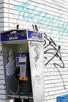 bell, phone booth in downtown Toronto<br /> <br /> <br /> <br />     photo by Pierre Roussel - Images Distribution