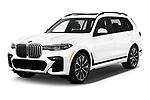 2019 BMW X7 40i 5 Door SUV angular front stock photos of front three quarter view