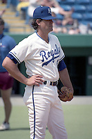 Kansas City Royals catcher Bob Boone (8) during spring training circa 1990 at Baseball City Stadium in Davenport, Florida.  (MJA/Four Seam Images)