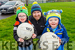 At the Charlie Kerins 10k in Kerins O'Rahilly's on Sunday morning<br /> L to r: Logan, Noah and Frank O'Connor.