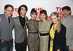 """Joe Tippett, Alex Wolff, Isabelle Fuhrman, Erica Schmidt, Abigail Breslin and Scott Elliott attend the Opening Night of The New Group World Premiere of """"All The Fine Boys"""" at the The Green Fig Urban Eatery on March 1, 2017 in New York City."""