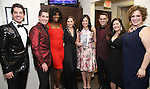 Anthony Nunziata, Will Nunziata, Amber Iman, Laura Osnes, Lindsay Mendez, Luke S. Frazier, Bayla Whitten and Lucia Spina backstage at  The American Pops Orchestra '75 Years of Streisand'  at the George Washington University Lisner Auditorium on January 13, 2017 in New York City.