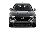 Car photography straight front view of a 2019 Hyundai Santa FE SE 4 Door SUV