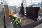 Modern Grave Of A Family That died in 1998 When Their Car Drove Off A Cliff In 1998. Sanahin Monastery, Lori Province