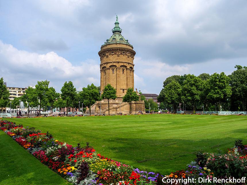 Wasserturm, Mannheim, Baden-Württemberg, Deutschland, Europa<br /> Watertower, Mannheim, Baden-Wuerttemberg, Germany, Europe