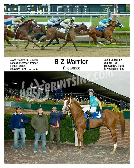 B Z Warrior winning at Delaware Park on 10/12/09