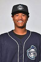 Asheville Tourists pitcher Erick Julio (29) poses for a photo at Story Point Media on April 4, 2017 in Asheville, North Carolina. (Tony Farlow/Four Seam Images)