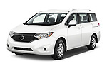 2017 Nissan Quest S 5 Door Minivan Angular Front stock photos of front three quarter view