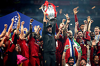 Liverpool coach Jurgen Klopp holds the trophy as he celebrates with Liverpool players the victory of the Champions League <br /> Madrid 01-06-2019 Estadio Wanda Metropolitano, <br /> Football UEFA Champions League 2018/2019<br /> Final 2019 <br /> Tottenham - Liverpool <br /> Foto Cesare Purini / Insidefoto