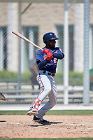 Minnesota Twins Yunior Severino (20) during a Minor League Spring Training game against the Tampa Bay Rays on March 17, 2018 at CenturyLink Sports Complex in Fort Myers, Florida.  (Mike Janes/Four Seam Images)