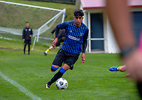 Rangers' Haris Zeb in action during the Central League football match between Miramar Rangers and Lower Hutt AFC at David Farrington Park in Wellington, New Zealand on Saturday, 10 April 2021. Photo: Dave Lintott / lintottphoto.co.nz