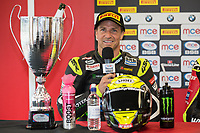James Ellison of the McAMS Yamaha team after finishing 2nd in Race Two of the 2017 BSB Round 6 - Brands Hatch GP Circuit at Brands Hatch, Longfield, England on Sunday 23 July 2017. Photo by David Horn/PRiME Media Images
