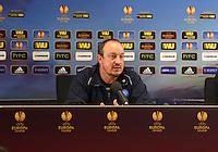 Napoli manager Rafa Benitez during the press conference.