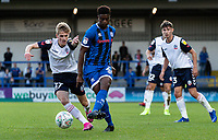 Bolton Wanderers' Ronan Darcy (left) challenging Rochdale's Tyler Magloire  <br /> <br /> Photographer Andrew Kearns/CameraSport<br /> <br /> The Carabao Cup First Round - Rochdale v Bolton Wanderers - Tuesday 13th August 2019 - Spotland Stadium - Rochdale<br />  <br /> World Copyright © 2019 CameraSport. All rights reserved. 43 Linden Ave. Countesthorpe. Leicester. England. LE8 5PG - Tel: +44 (0) 116 277 4147 - admin@camerasport.com - www.camerasport.com