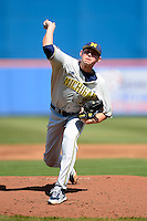 Michigan Wolverines pitcher Ben Ballantine #7 during an exhibition game against the New York Mets at Tradition Field on February 24, 2013 in St. Lucie, Florida.  New York defeated Michigan 5-2.  (Mike Janes/Four Seam Images)