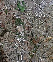 aerial map view above Laguna Hills Orange County California