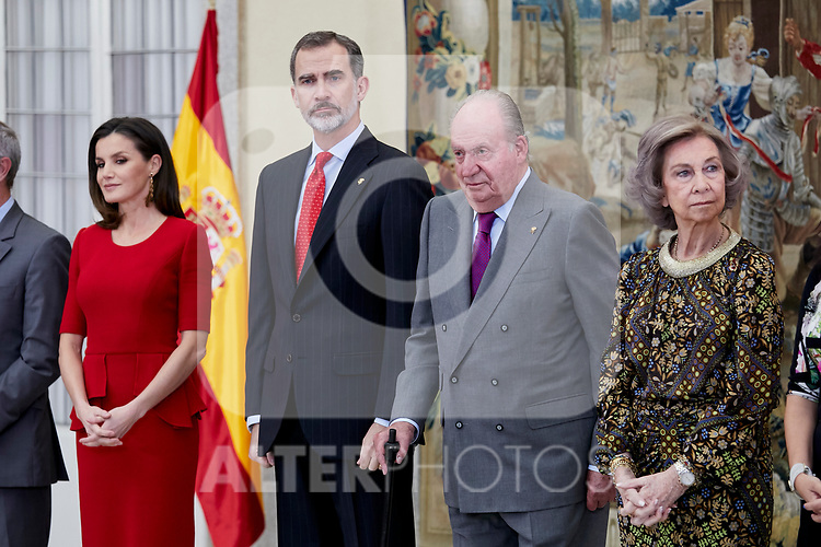 King Felipe VI of Spain, Queen Letizia of Spain, Former King Juan Carlos I of Spain and Former Queen Sofia of Spain attends to National Sports Awards at Royal Palace of el Pardo in Madrid, Spain. January 10, 2019. (ALTERPHOTOS/A. Perez Meca) (ALTERPHOTOS/A. Perez Meca)