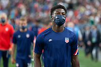 DENVER, CO - JUNE 6: Yunus Musah of the United States during a game between Mexico and USMNT at Mile High on June 6, 2021 in Denver, Colorado.