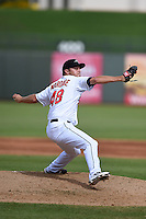 Peoria Javelinas pitcher Nick Maronde (48) during an Arizona Fall League game against the Mesa Solar Sox on October 15, 2014 at Surprise Stadium in Surprise, Arizona.  Mesa defeated Peoria 5-2.  (Mike Janes/Four Seam Images)
