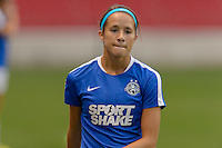 Chicago, IL - Wednesday Sept. 07, 2016: Shea Groom prior to a regular season National Women's Soccer League (NWSL) match between the Chicago Red Stars and FC Kansas City at Toyota Park.