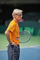 Switserland, Genève, September 20, 2015, Tennis,   Davis Cup, Switserland-Netherlands, coach Martin Bohm (NED)<br /> Photo: Tennisimages/Henk Koster