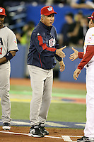 March 8, 2009:  Manager Davey Johnson of Team USA during the first round of the World Baseball Classic at the Rogers Centre in Toronto, Ontario, Canada.  Team USA defeated Venezuela  15-6 to secure a spot in the second round of the tournament.  Photo by:  Mike Janes/Four Seam Images