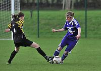 RSC Anderlecht Dames - WD Lierse SK : Laura Deloose aan de bal.foto DAVID CATRY / Vrouwenteam.be