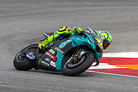 3rd October 2021; Austin, Texas, USA;  Valentino Rossi of Italy and Petronas Yamaha SRT rounds turn 15 during the MotoGP Red Bull Grand Prix of the Americas  at Circuit of The Americas in Austin, Texas.