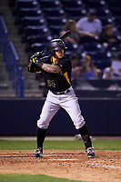 Bradenton Marauders third baseman Trace Tam Sing (24) at bat during a game against the Tampa Yankees on April 15, 2017 at George M. Steinbrenner Field in Tampa, Florida.  Tampa defeated Bradenton 3-2.  (Mike Janes/Four Seam Images)