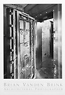 PLUTONIUM STORAGE VAULT<br /> ABANDONED NUCLEAR WEAPONS<br /> STORAGE FACILITY<br /> Loring Air Force Base<br /> Limestone, Maine © Brian Vanden Brink, 2000