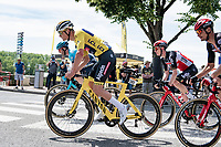 Mathieu Van der Poel (NED/Alpecin-Fenix) as the engine of the large breakaway group<br /> <br /> Stage 7 from Vierzon to Le Creusot (249km)<br /> 108th Tour de France 2021 (2.UWT)<br /> <br /> ©kramon