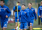 St Johnstone Training…27.09.19<br />Jason Holt and Stevie May pictured during training this morning at McDiarmid Park ahead of tomorrow's game against Motherwell.<br />Picture by Graeme Hart.<br />Copyright Perthshire Picture Agency<br />Tel: 01738 623350  Mobile: 07990 594431