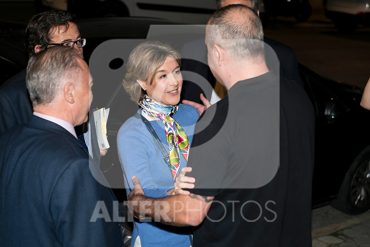 """Minister for Agriculture and Fisheries, Food and Environment, Isabel García Tejerina and Carlos Rodriguez during the presentation of the book """"Llevame contigo"""" of Carlos Rodriguez in Madrid, Spain. March 15, 2017. (ALTERPHOTOS/BorjaB.Hojas)"""