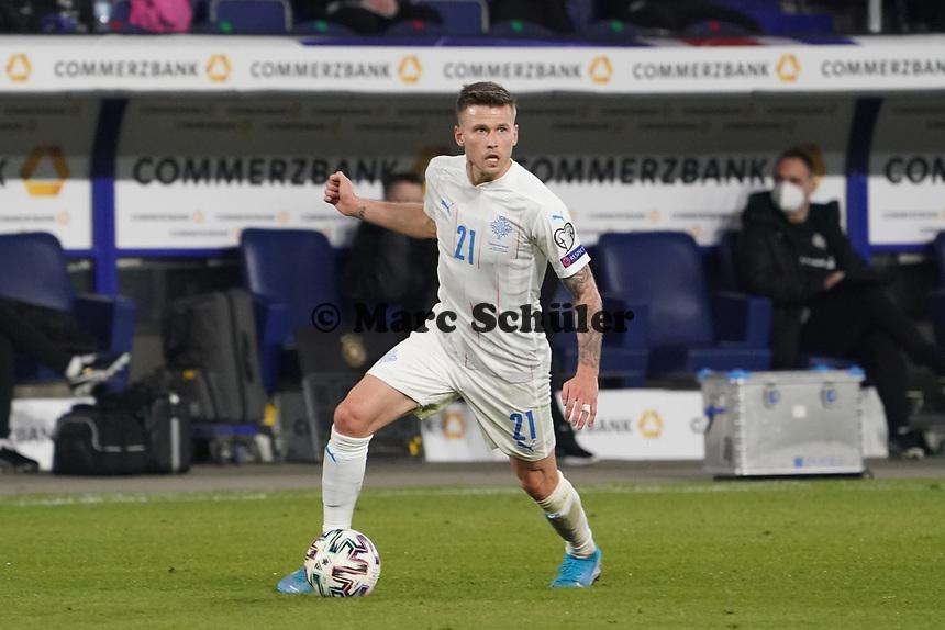 Arnor Traustason (Island Iceland) - 25.03.2021: WM-Qualifikationsspiel Deutschland gegen Island, Schauinsland Arena Duisburg