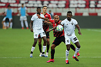 9th September 2020; Arena da Baixada, Curitiba, Brazil; Brazilian Serie A, Athletico Paranaense versus Botafogo; Jonathan of Athletico Paranaense and Salomon Kalou of Botafogo