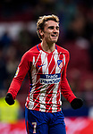 Antoine Griezmann of Atletico de Madrid celebrates his fourth goal during the La Liga 2017-18 match between Atletico de Madrid and CD Leganes at Wanda Metropolitano on February 28 2018 in Madrid, Spain. Photo by Diego Souto / Power Sport Images