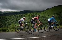 eventual stage winner Patrick Konrad (AUT/BORA - hansgrohe) was part of an early chase group up the Col de Port<br /> <br /> Stage 16 from El Pas de la Casa to Saint-Gaudens (169km)<br /> 108th Tour de France 2021 (2.UWT)<br /> <br /> ©kramon