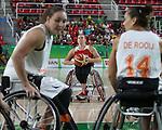 Tracey Ferguson, Rio 2016 - Wheelchair Basketball // Basketball en fauteuil roulant.<br /> The Canadian women's wheelchair basketball team plays Netherlands in the quarter-finals // L'équipe canadienne féminine de basketball en fauteuil roulant affronte les Pays-Bas en quarts de finale. 13/09/2016.