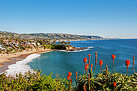 A view of Cresent Bay Beach from Point Park, Laguna Beach, California.