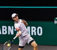 Rotterdam, The Netherlands, 28 Februari 2021, ABNAMRO World Tennis Tournament, Ahoy, First round match: Kei Nishikori (JPN). <br /> Photo: www.tennisimages.com/henkkoster