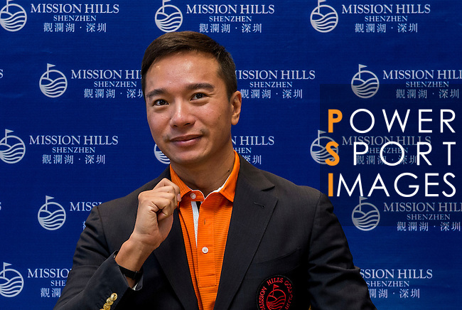 Tenniel Chu Vice Chairman of Mission Hills Group attends Korean Media during the Hyundai China Ladies Open 2014 on December 12 2014 at Mission Hills Shenzhen, in Shenzhen, China. Photo by Aitor Alcalde / Power Sport Images