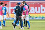 20.02.2021, xtgx, Fussball 3. Liga, FC Hansa Rostock - SV Waldhof Mannheim, v.l. Jan Loehmannsroeben (Hansa Rostock, 24) haelt sich den Oberschenkel, verletzt, Verletzung<br /> <br /> (DFL/DFB REGULATIONS PROHIBIT ANY USE OF PHOTOGRAPHS as IMAGE SEQUENCES and/or QUASI-VIDEO)<br /> <br /> Foto © PIX-Sportfotos *** Foto ist honorarpflichtig! *** Auf Anfrage in hoeherer Qualitaet/Aufloesung. Belegexemplar erbeten. Veroeffentlichung ausschliesslich fuer journalistisch-publizistische Zwecke. For editorial use only.
