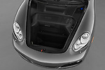 High angle trunk view of a 2009 Porsche Cayman S