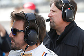 Verizon IndyCar Series<br /> Fernando Alonso Test for Indianapolis 500<br /> Indianapolis Motor Speedway, Indianapolis, IN USA<br /> Wednesday 3 May 2017<br /> Fernando Alonso and Michael Andretti<br /> World Copyright: Michael L. Levitt<br /> LAT Images