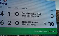 Rosmalen, Netherlands, 15 June, 2019, Tennis, Libema Open, NK Padel,  scoreboard<br /> Photo: Henk Koster/tennisimages.com