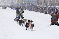 Travis Cooper Saturday, March 3, 2012  Ceremonial Start of Iditarod 2012 in Anchorage, Alaska.